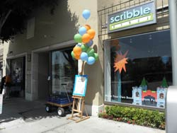 Scribble Press Storefront on Montana Avenue