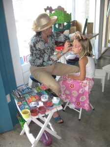 face painting at Scribble Press Grand Opening