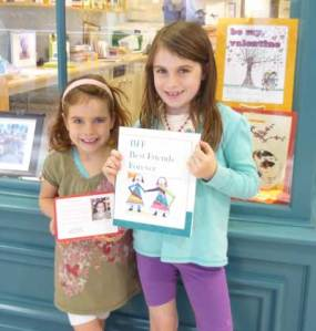 Two young authors with their newly-published Scribble Press books