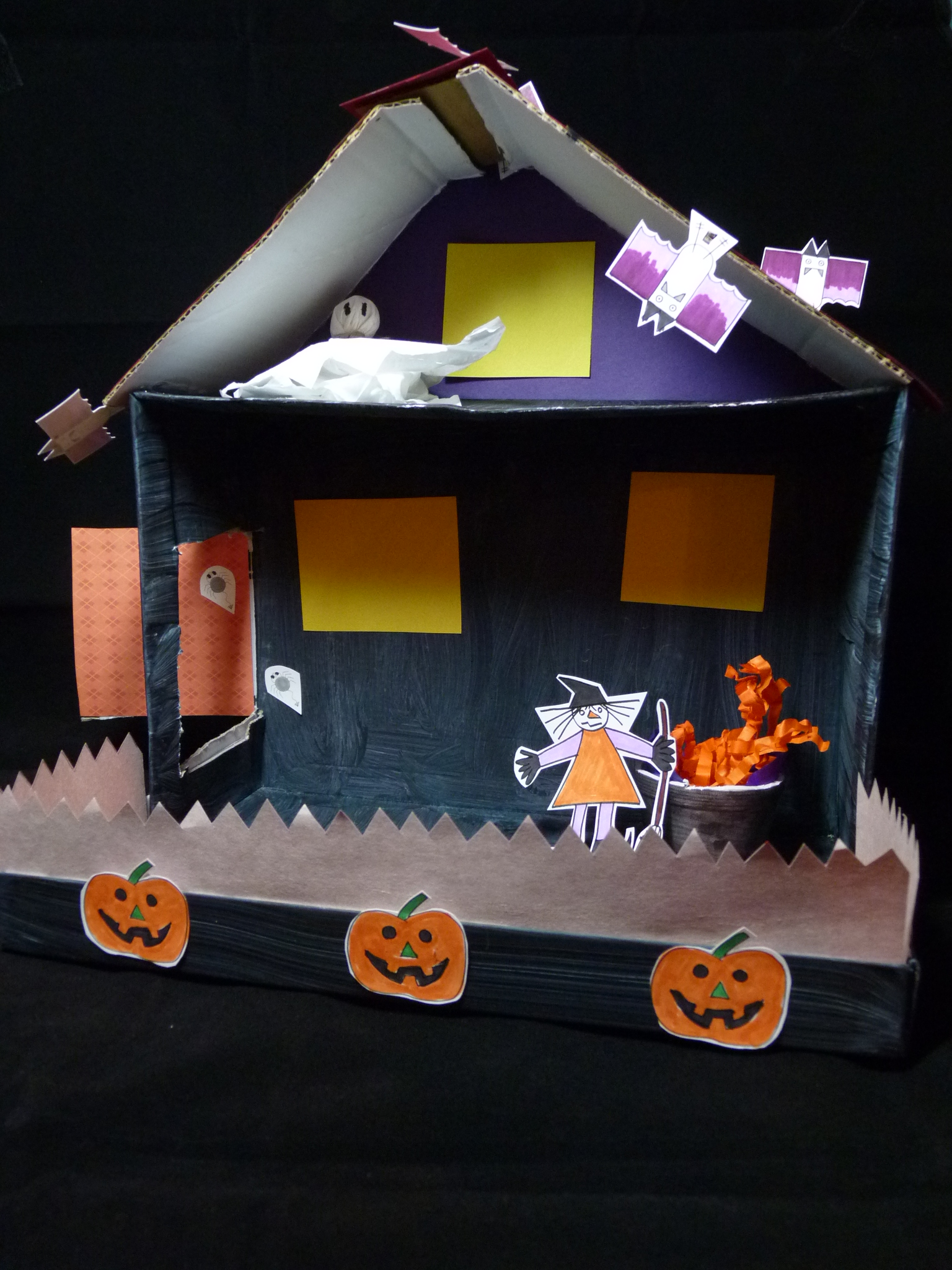 Halloween craft shoebox haunted house scribble press blog for Build a haunted house